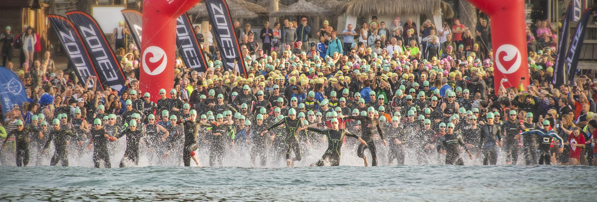 Mallorca Triathlon in 2020 start swim