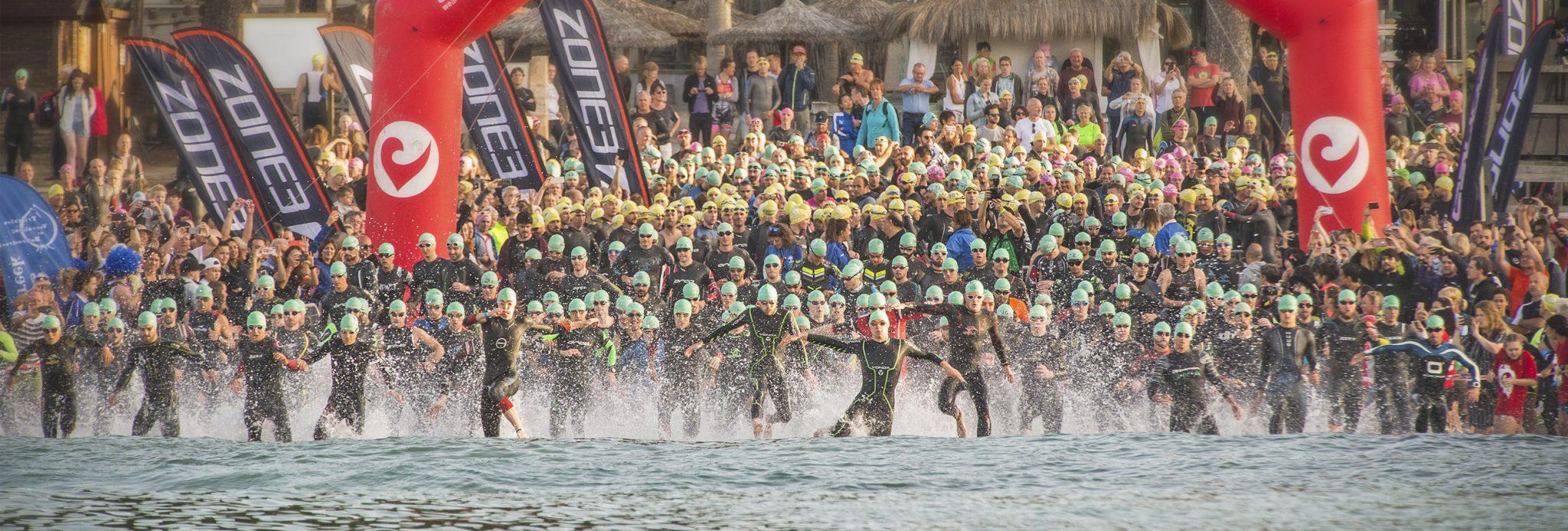 Mallorca Triathlon en 2020 salida natación