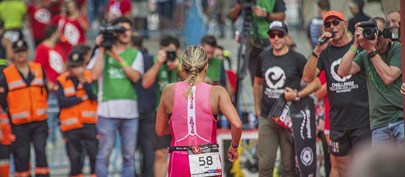 Challenge Mallorca triathlon press finish line