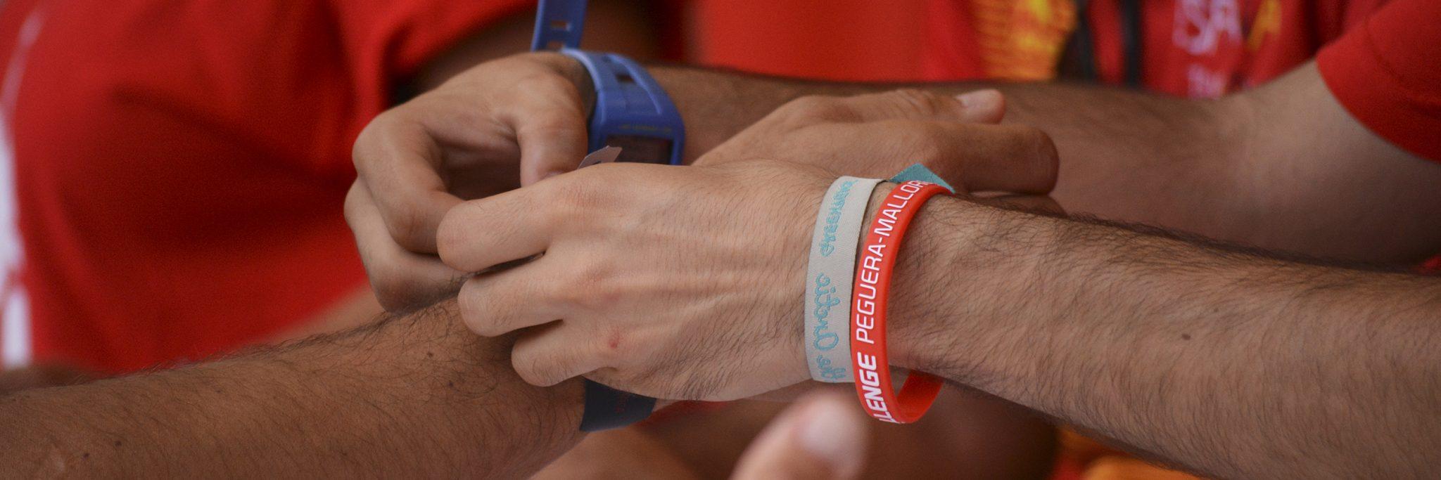 Challenge Peguera Mallorca hand bracelet registration