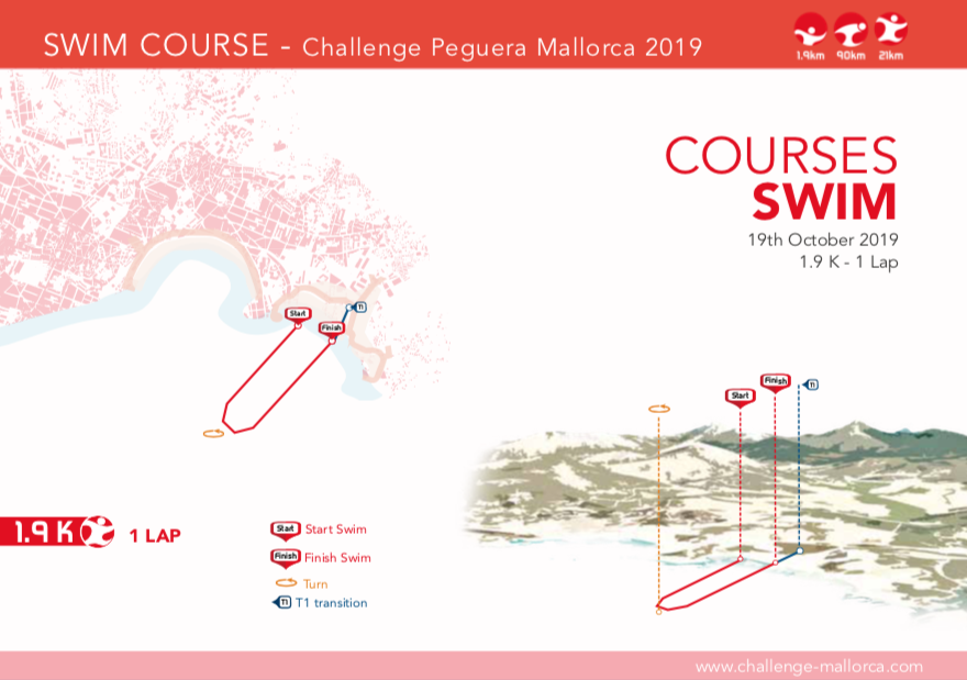 Challenge Mallorca relay middle distance triathlon swim