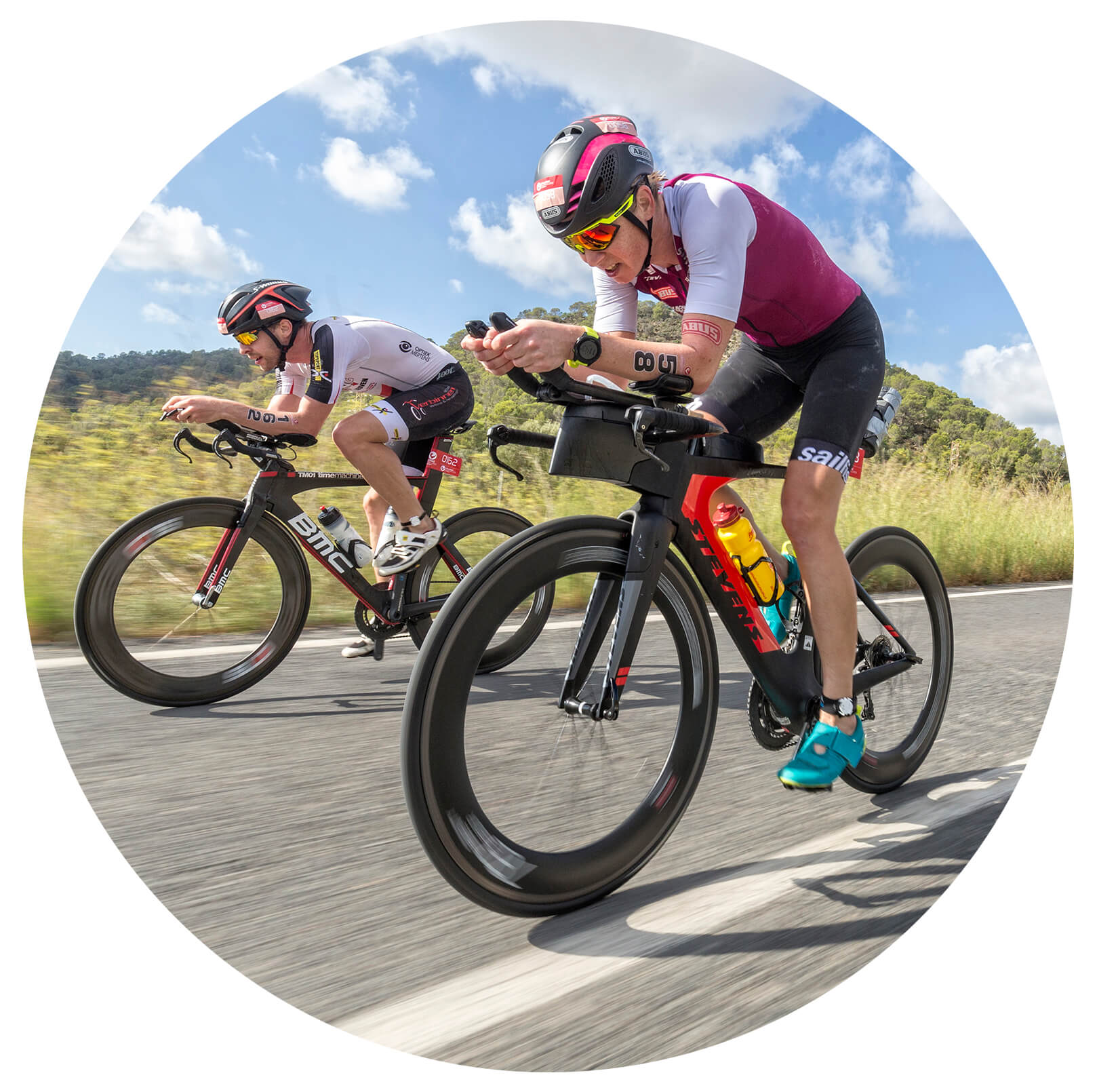 Athletes Challenge Mallorca triathlon