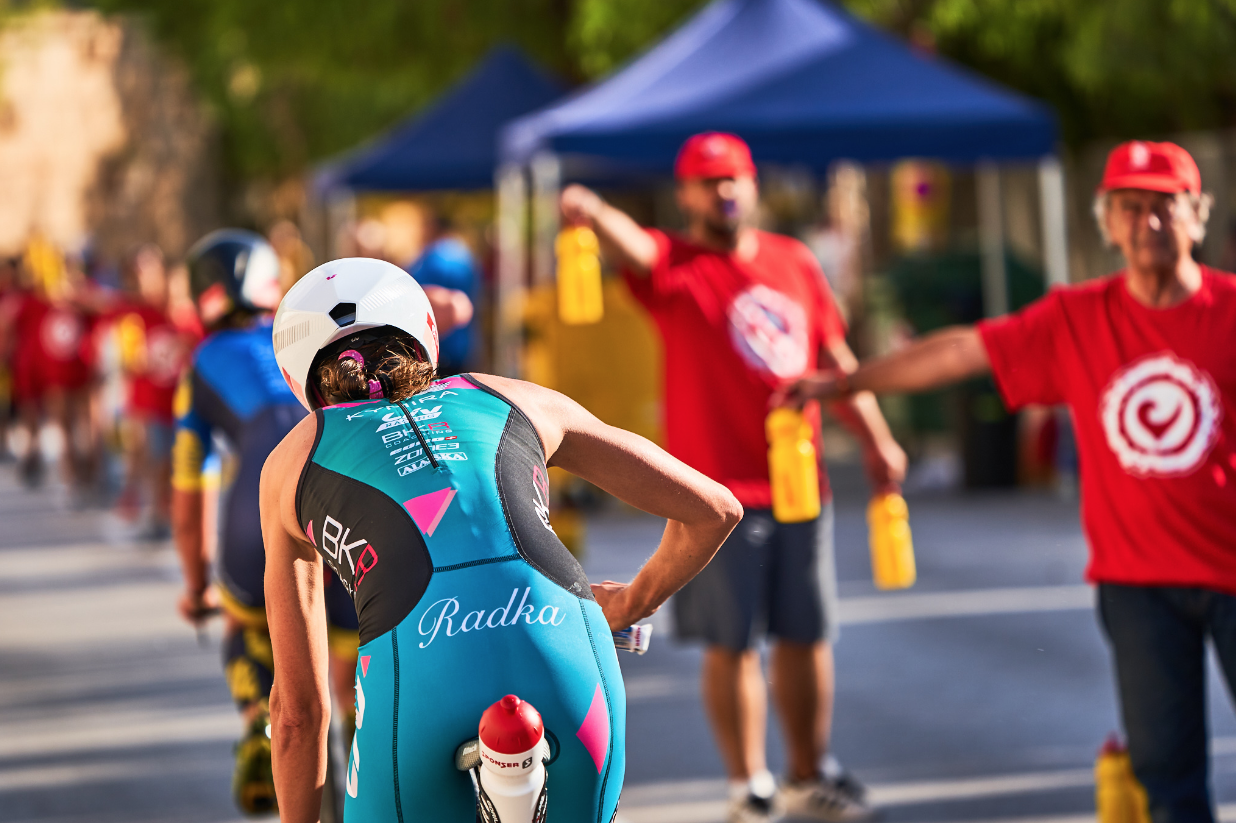 Run Aid stations - Challenge Mallorca triathlon