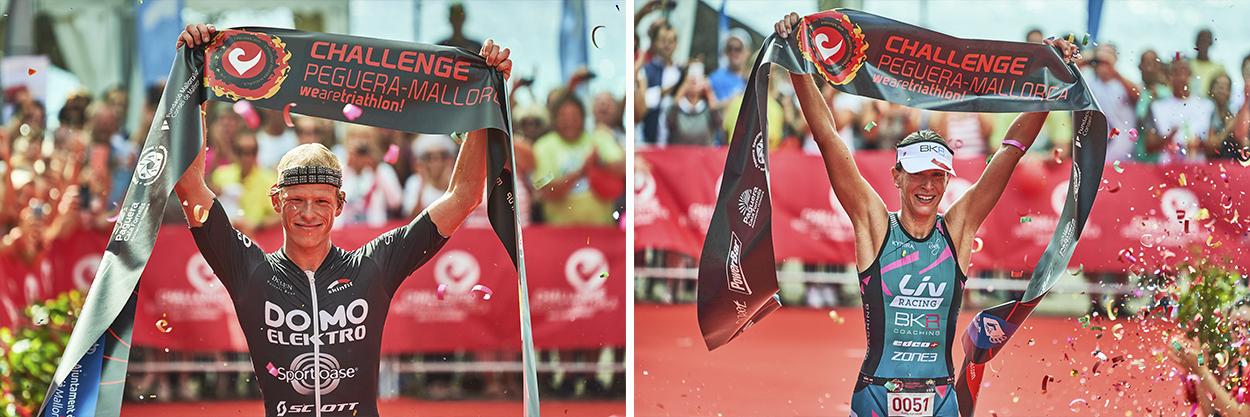 Challenge Mallorca triathlon llegada a meta finishers